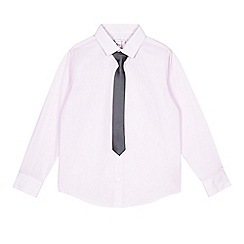 RJR.John Rocha - Boys' pink textured shirt and tie