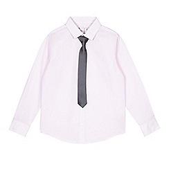 RJR.John Rocha - Boys' pink textured shirt and tie