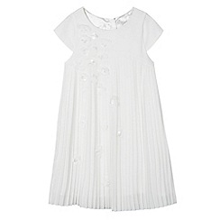 RJR.John Rocha - Designer girl's ivory pleated floral dress