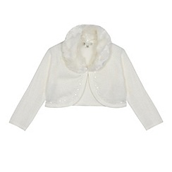 RJR.John Rocha - Girls' white faux fur cardigan