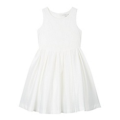 RJR.John Rocha - Designer girl's ivory bow back dress