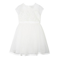RJR.John Rocha - Designer girl's ivory embellished bodice dress