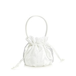 Debenhams - Girl's ivory beaded satin confetti bag