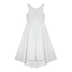 RJR.John Rocha - Girls' white embellished bow dress