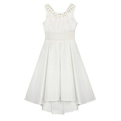 RJR.John Rocha - Girls' ivory floral bow dress