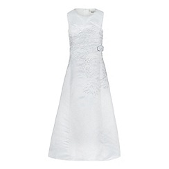 RJR.John Rocha - Girls' white rose detail ruched dress