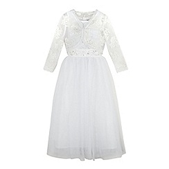 RJR.John Rocha - Girls' white floral lace dress and bolero
