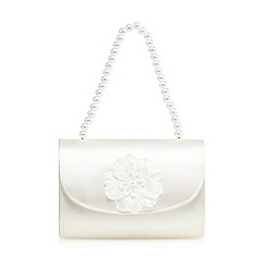 Debenhams - Ivory floral satin clutch bag