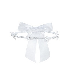 Debenhams - Girls' white pearl embellished halo