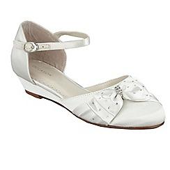 Debenhams - Girl's ivory diamante wedge shoes