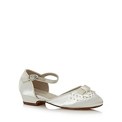 Debenhams - Girl's ivory beaded front shoes