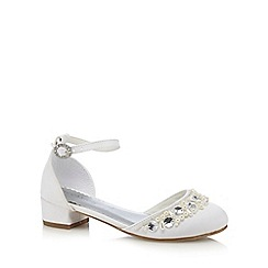 Debenhams - White beaded sandals