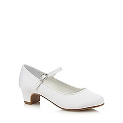 Debenhams - White heeled slip-on shoes