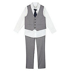 RJR.John Rocha - Boys' grey four piece suit set