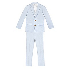 RJR.John Rocha - Boys' pale slim fit blue jacket and trousers set