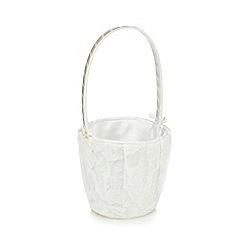 Debenhams - Ivory lace confetti bucket