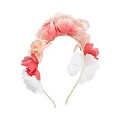 Debenhams - Girls' pink floral headband