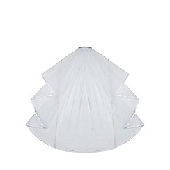 Debenhams - White diamante embellished veil