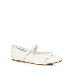 Debenhams - Girls' ivory lace flat shoes