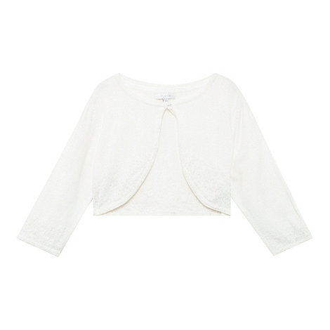 Tigerlily - Girl+s cream beaded cardigan
