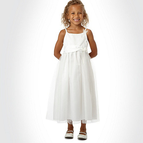 Tigerlily - Girl's ivory appliqued butterfly dress
