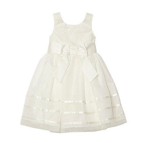 Pearce II Fionda - Designer girl+s ivory appliqued flower dress