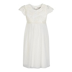 RJR.John Rocha - Girls' ivory embroidered dress