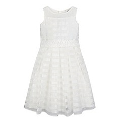 RJR.John Rocha - Girls' ivory pearlescent striped dress
