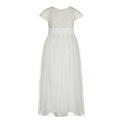 RJR.John Rocha - Girls' ivory lace bodice dress