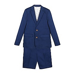 RJR.John Rocha - Boys' blue two-piece slim fit blazer and shorts set