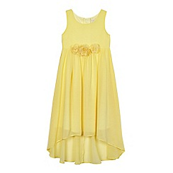 RJR.John Rocha - Girls' yellow floral applique dress