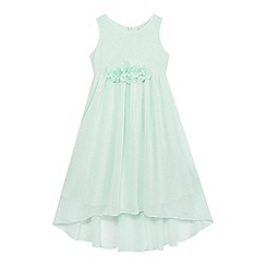 RJR.John Rocha - Girls' green floral applique dress