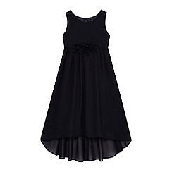 RJR.John Rocha - Girls' navy floral applique dress