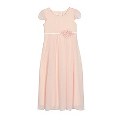 RJR.John Rocha - Girls' light pink angel sleeve dress