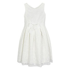 RJR.John Rocha - Girls' ivory 3D scattered flower dress