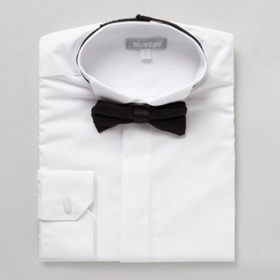 Boys White Formal Shirt And Bow Tie Set