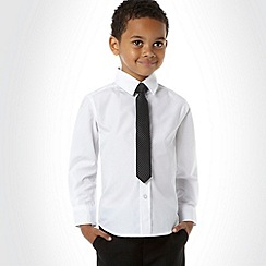 bluezoo - Boy's white shirt and spotted tie set