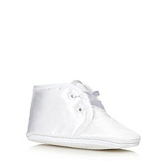 Debenhams - Baby's white Christening booties