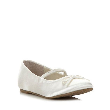 Debenhams - Girl+s ivory satin pumps