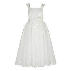 RJR.John Rocha - Girls' ivory floral applique dress