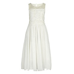 RJR.John Rocha - Girls' ivory embellished bodice dress