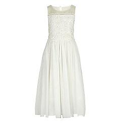 RJR.John Rocha - Girls' ivory embellished bodice dress