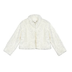 RJR.John Rocha - Girls' ivory faux fur jacket