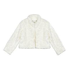 RJR.John Rocha - Girls' ivory faux fur jacket