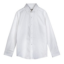 RJR.John Rocha - Boys' white textured dot double collar shirt