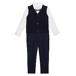 RJR.John Rocha - Boys' navy and white tank top, shirt and trousers set