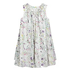 RJR.John Rocha - Girls' white floral foil-effect print dress