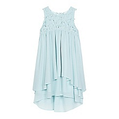 RJR.John Rocha - Girls' light green flower applique yoke layered dress