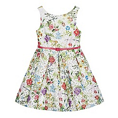 RJR.John Rocha - Girls' multi-coloured floral print belted dress