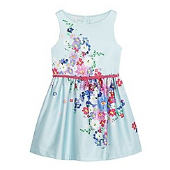 RJR.John Rocha - Girls' light blue floral print belted dress
